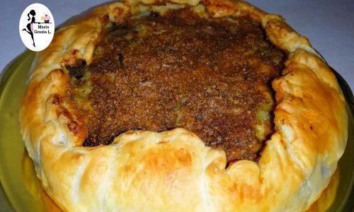 Torta sfogliata al riso soffiato e crema mascarpone