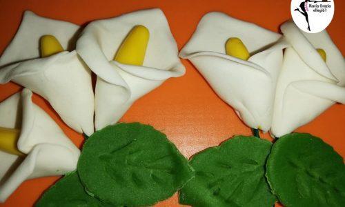 Calle in pasta di zucchero al marshmallow fondant
