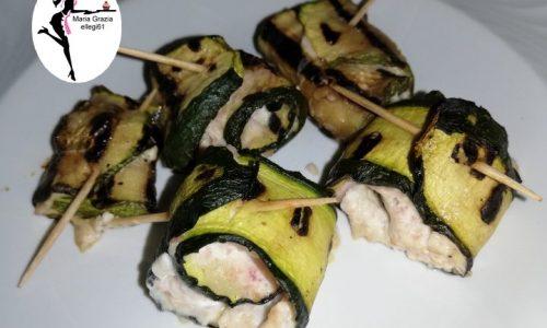 Involtini di zucchine alla mousse di prosciutto (VIDEO)