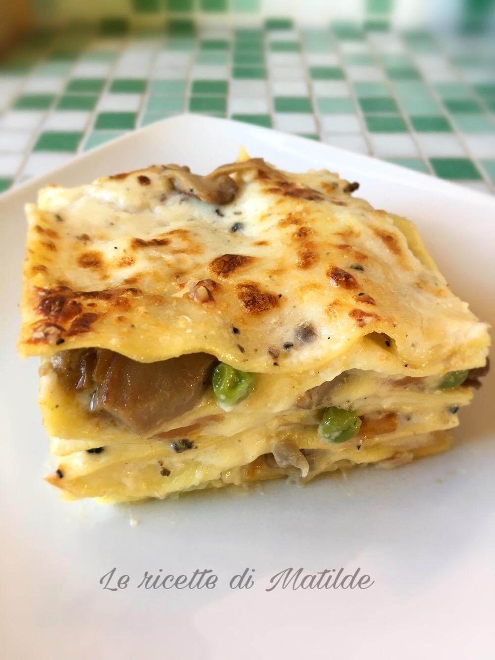 Lasagne con porcini e tartufo nero