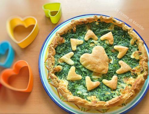 TORTA SALATA SPINACI, RICOTTA E SALAME