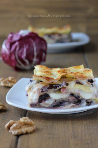 lasagne radicchio e gorgonzola
