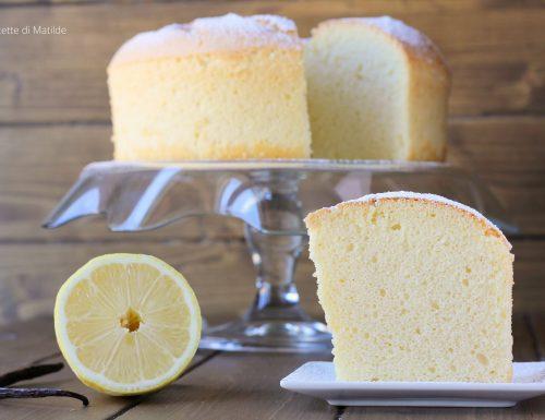 CHIFFON CAKE VANIGLIA E LIMONE