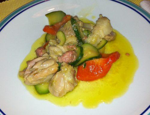 Bocconcini di carne alle verdure.