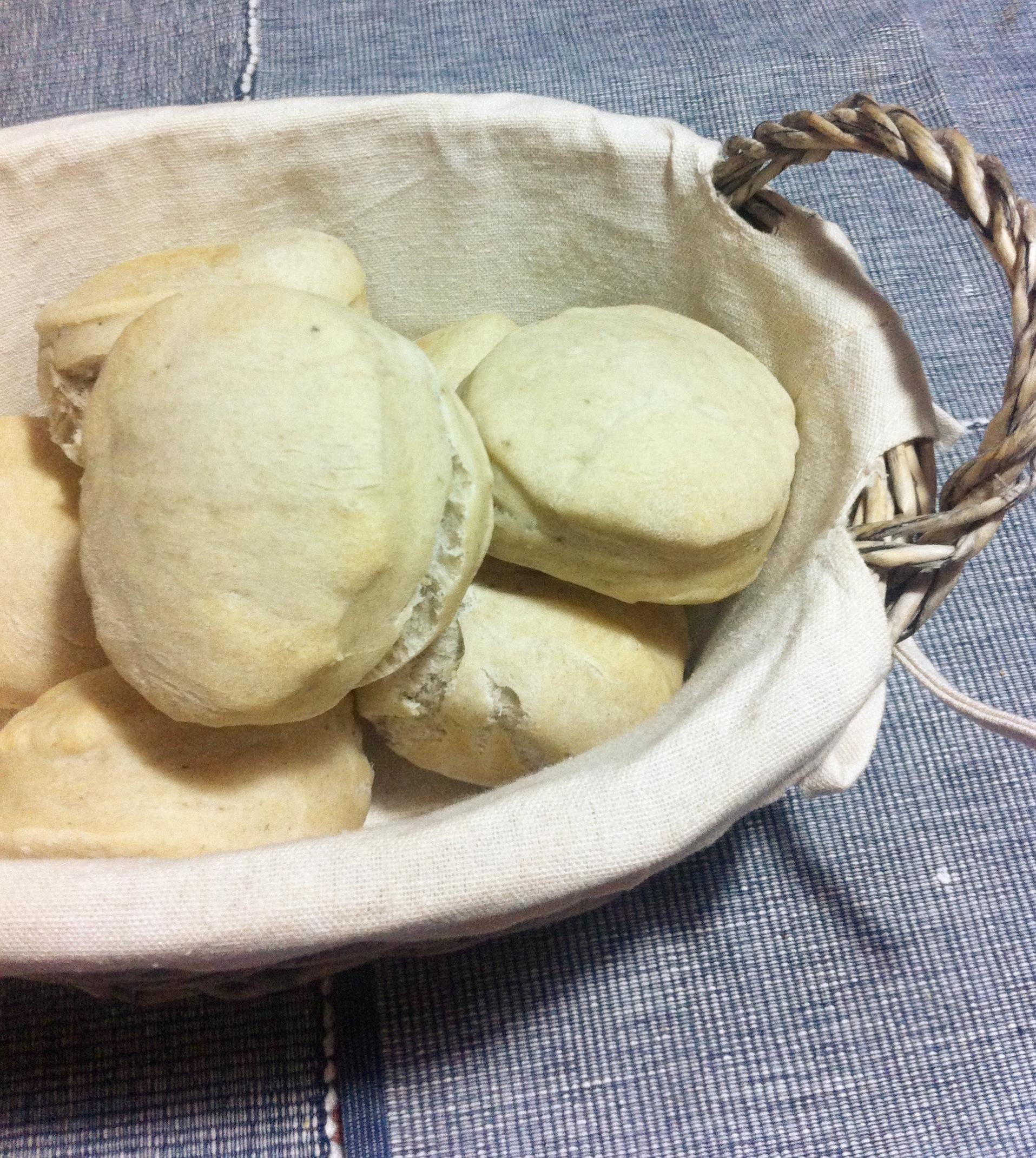 soffi di pane al tea verde