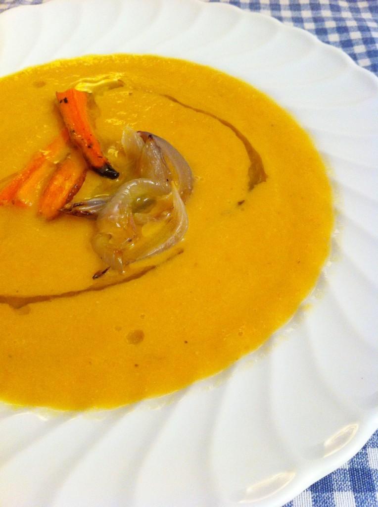 vellutata di carote e cipolle arrostite