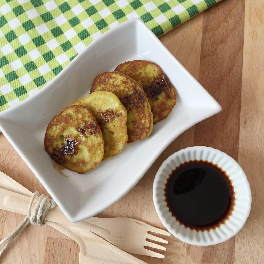 mini pancakes ai piselli