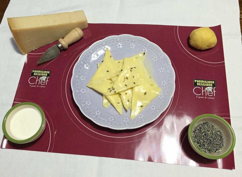 triangoli ripieni con mousse, ingredienti