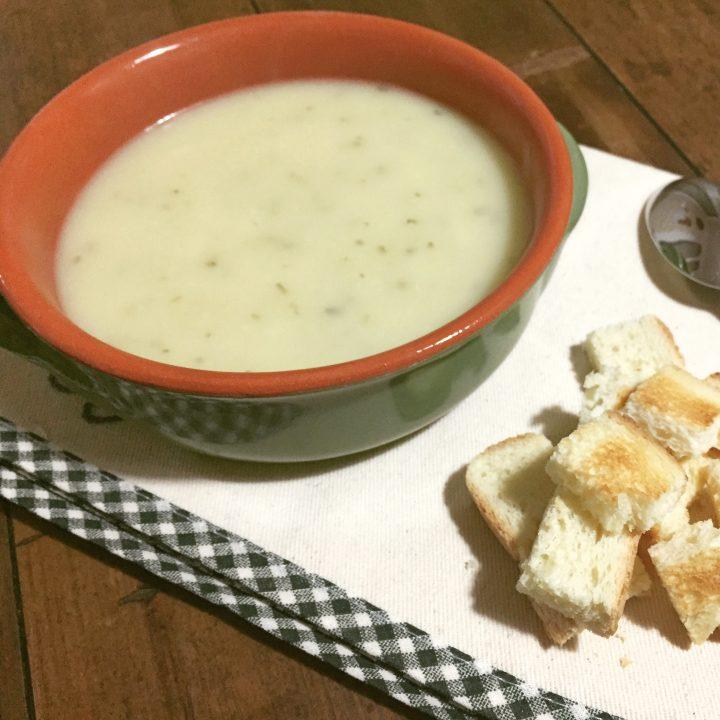 zuppa di topinambur e porri 1