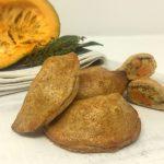 Pasties con porri, zucca e castagne