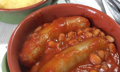 Stufato di fagioli e salsiccia