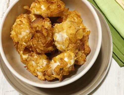 Bocconcini di pollo ai corn flakes