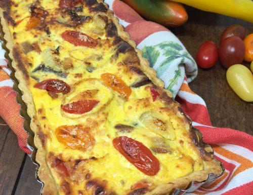 Torta salata con verdura e ricotta