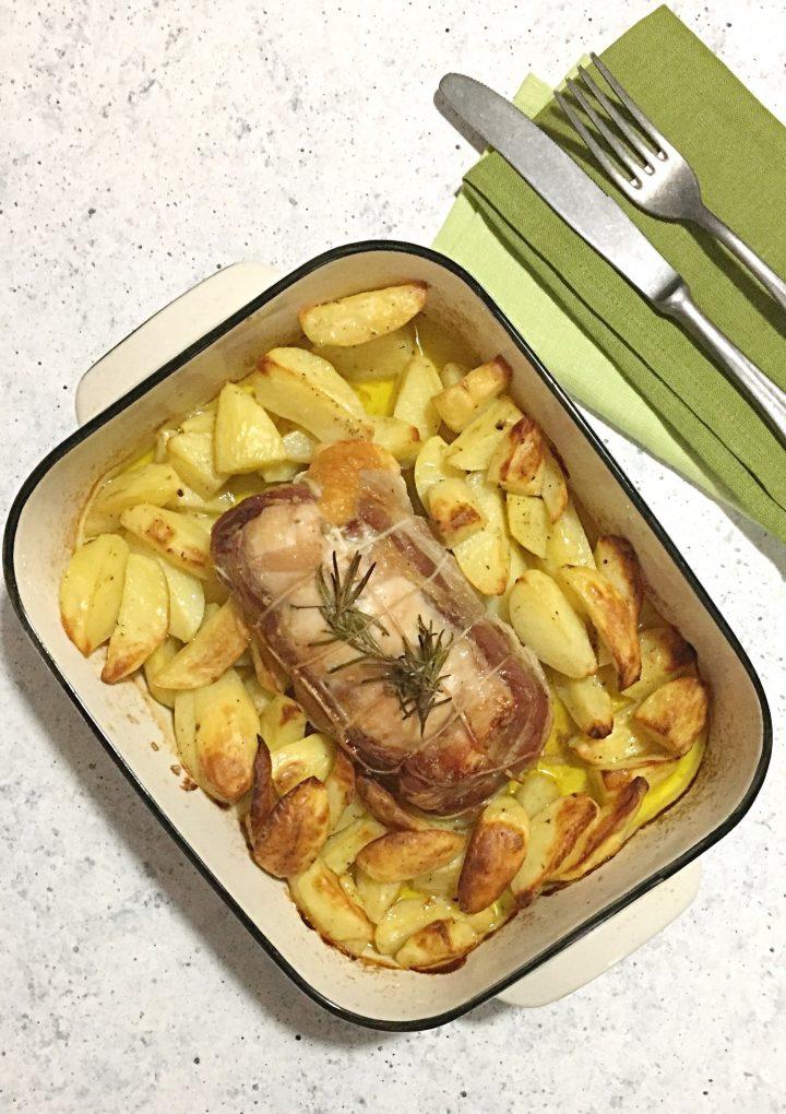 Arrosto di coniglio con le patate