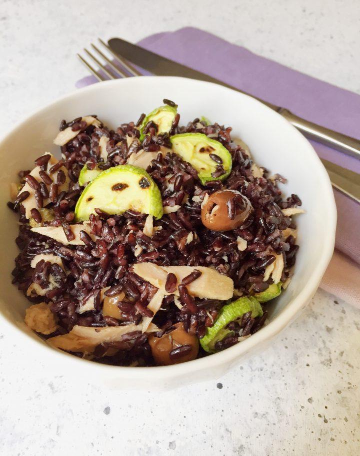 Insalata di riso viola