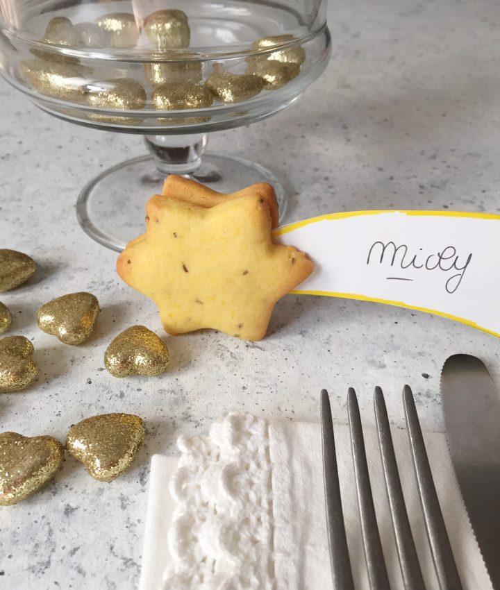biscotti segnaposto all'anice