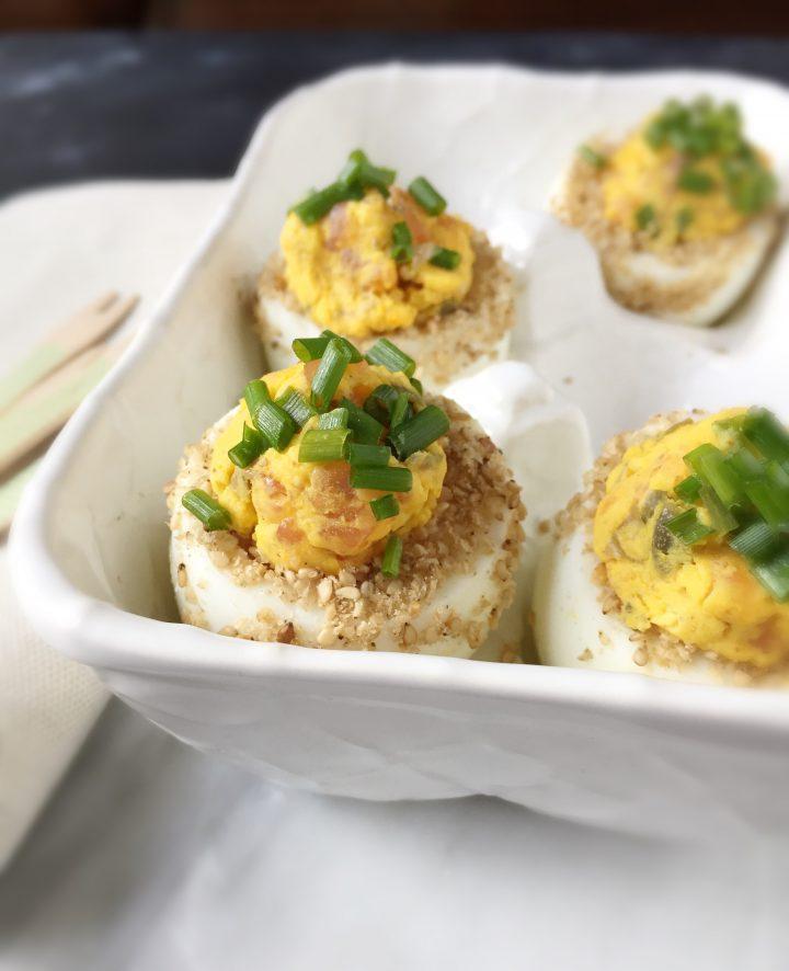 Delived eggs al salmone