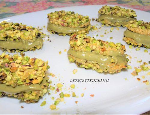 Biscotti al pistacchio con crema di pistacchio