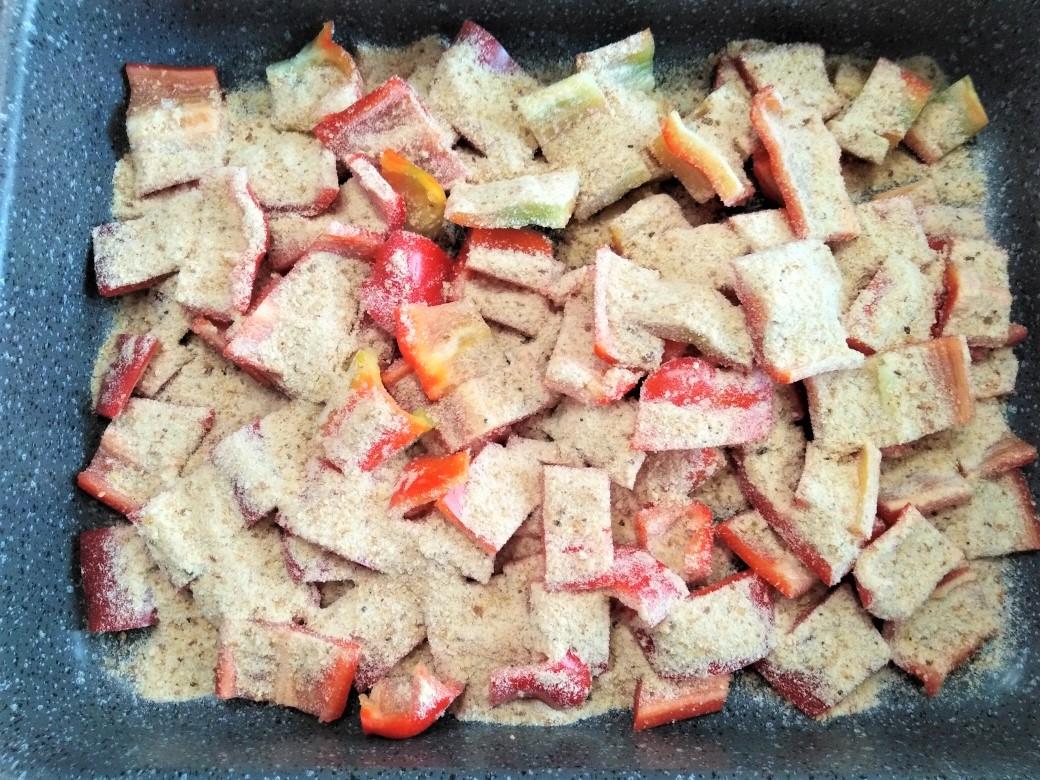 Peperoni con la mollica al forno