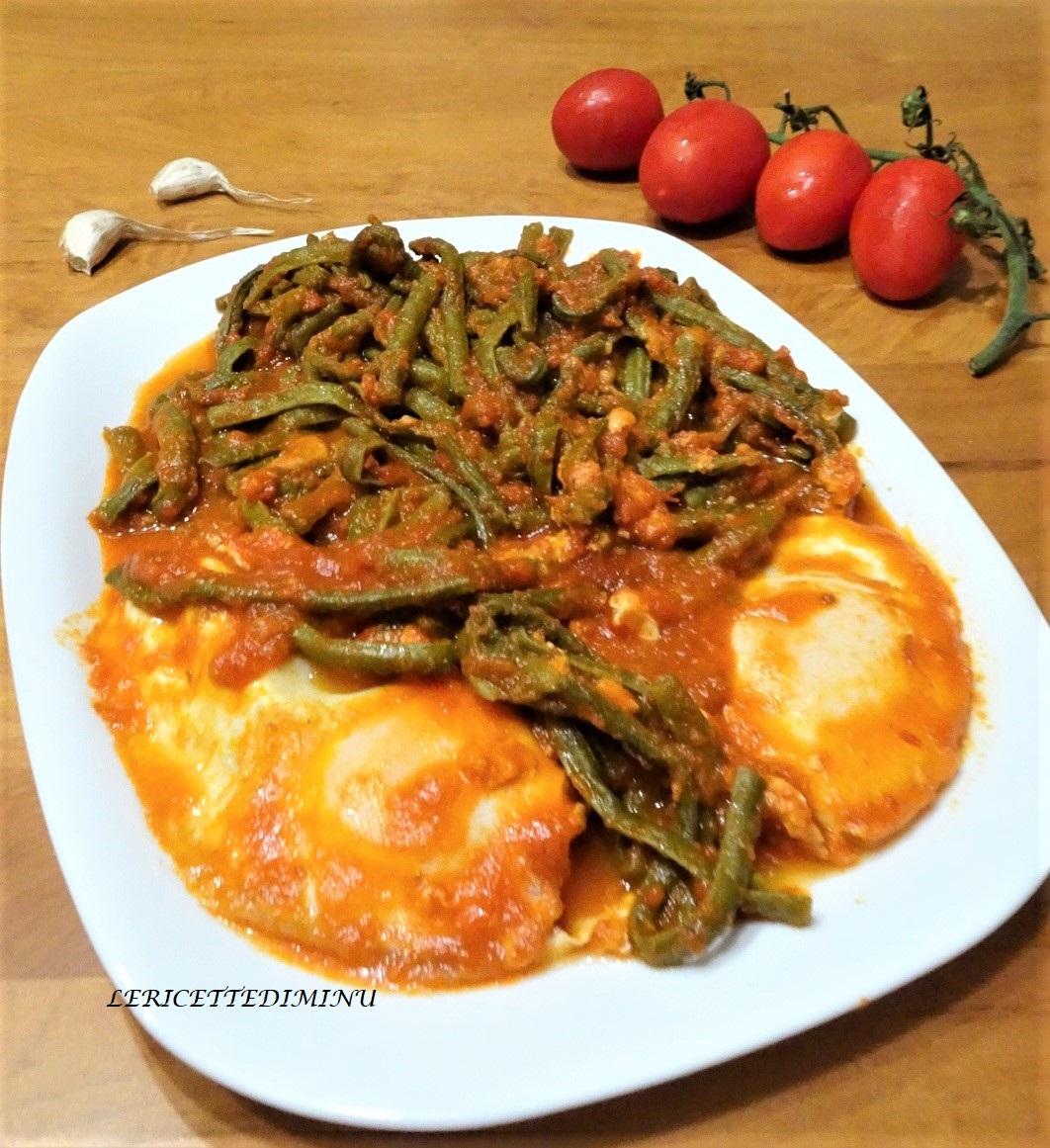 Fagiolino in umido con salsa e uova