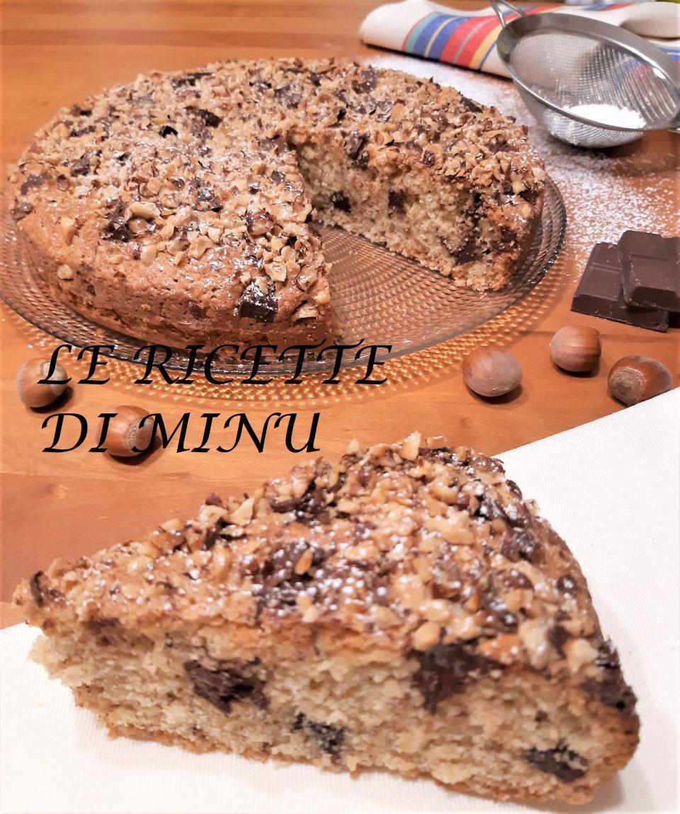 torta nocciole e cioccolato senza burro