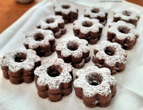 Biscotti canestrelli al cioccolato friabili