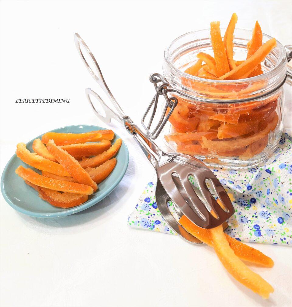 Scorzette di arancia candite con ammollo