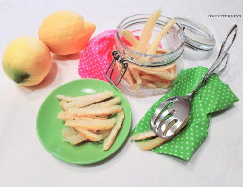 Scorzette di limone candite con ammollo
