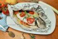 Orata al cartoccio con pomodorini e patate