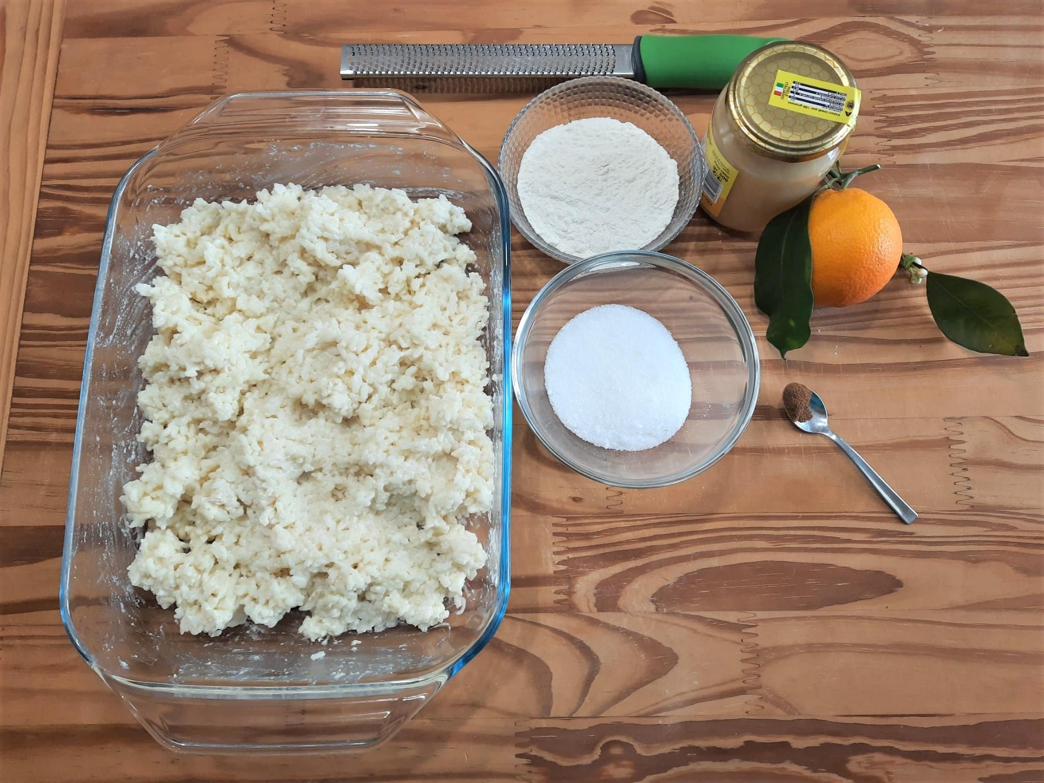 Crispelle o zeppole di riso catanesi senza lievito