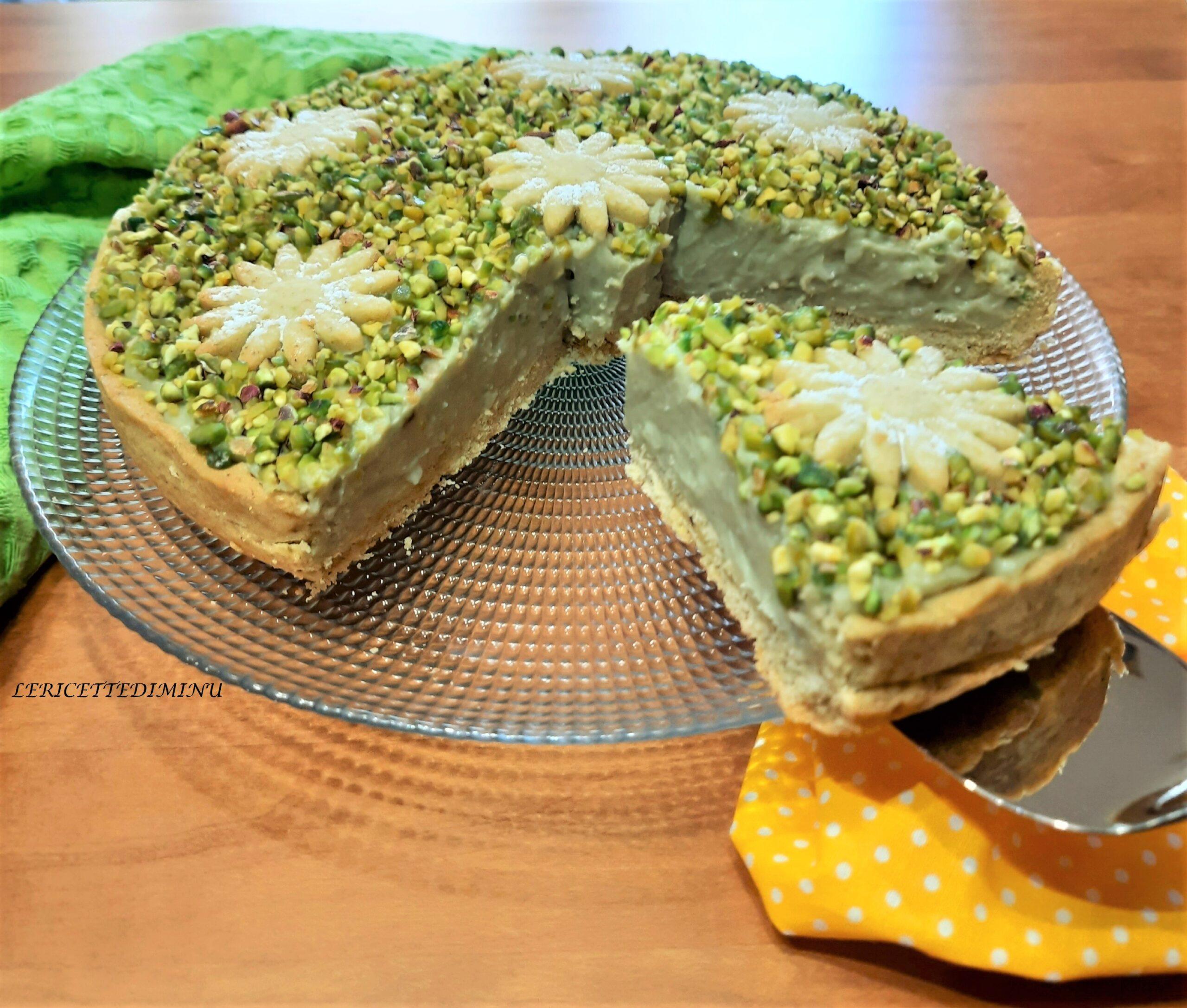 Crostata al pistacchio con frolla al pistacchio