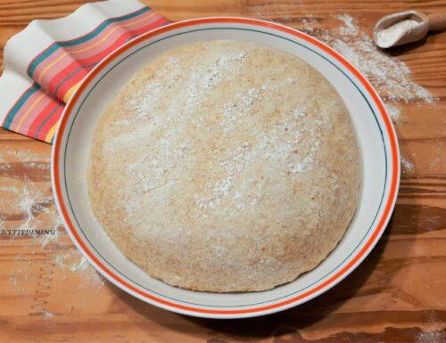 Impasto pizza semi integrale con lievito secco