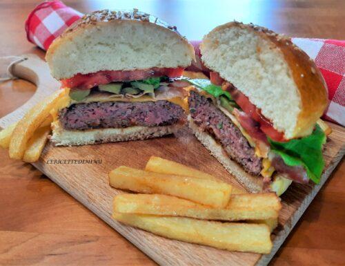 Ricetta hamburger americano con formaggio