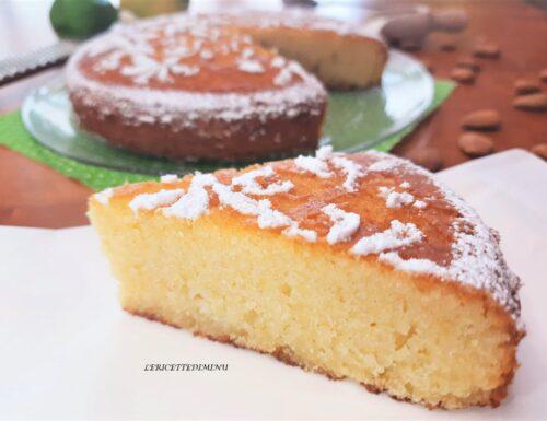 Torta caprese cioccolato bianco e limone