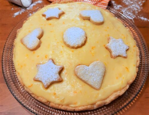 Crostata con pasta brisee e crema all'arancia