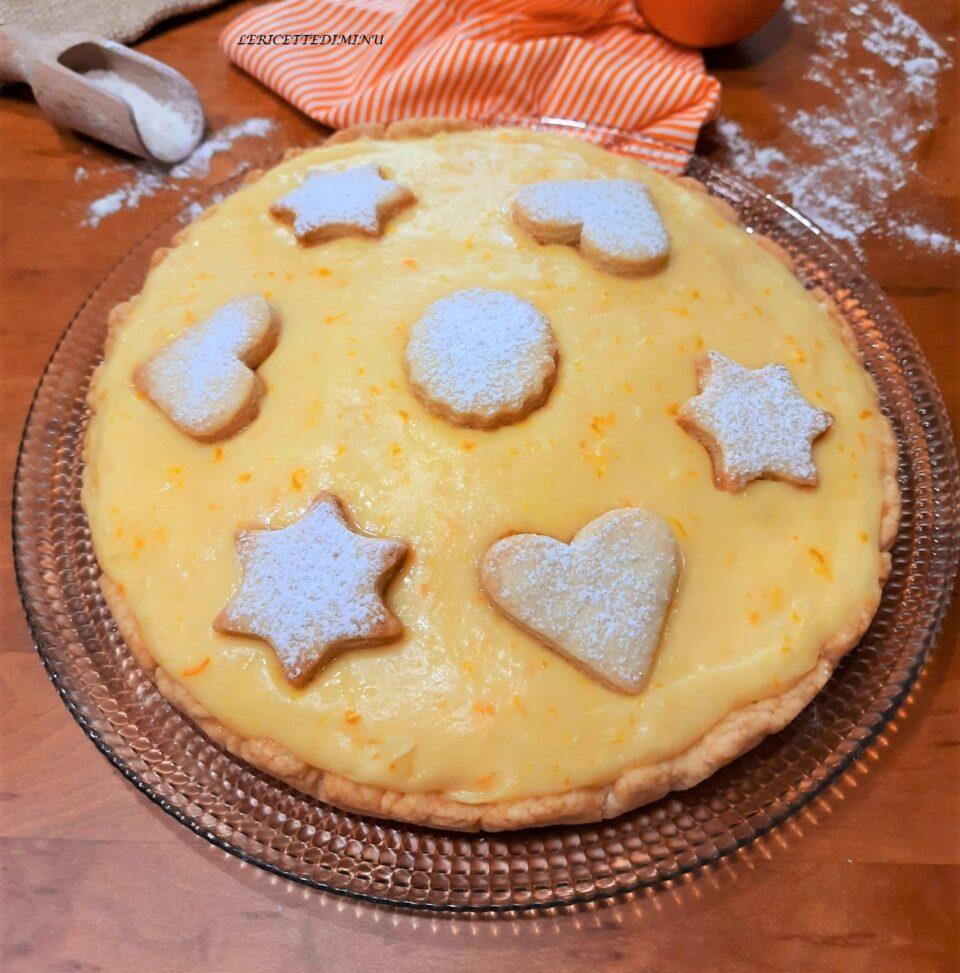Crostata con pasta brisee e crema all'arancia  Crostata con pasta brisee e crema all'arancia  Crostata con pasta brisee e crema all'arancia