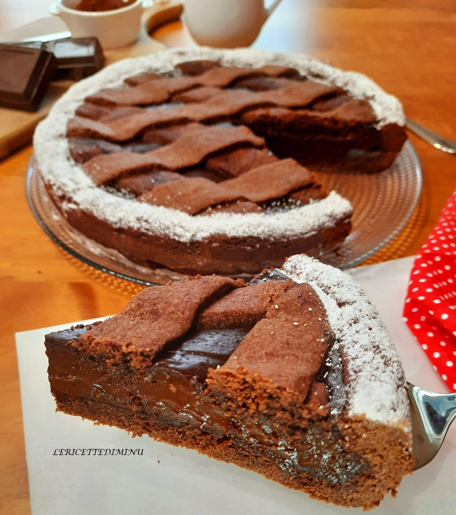 Crostata al cacao con crema al cioccolato