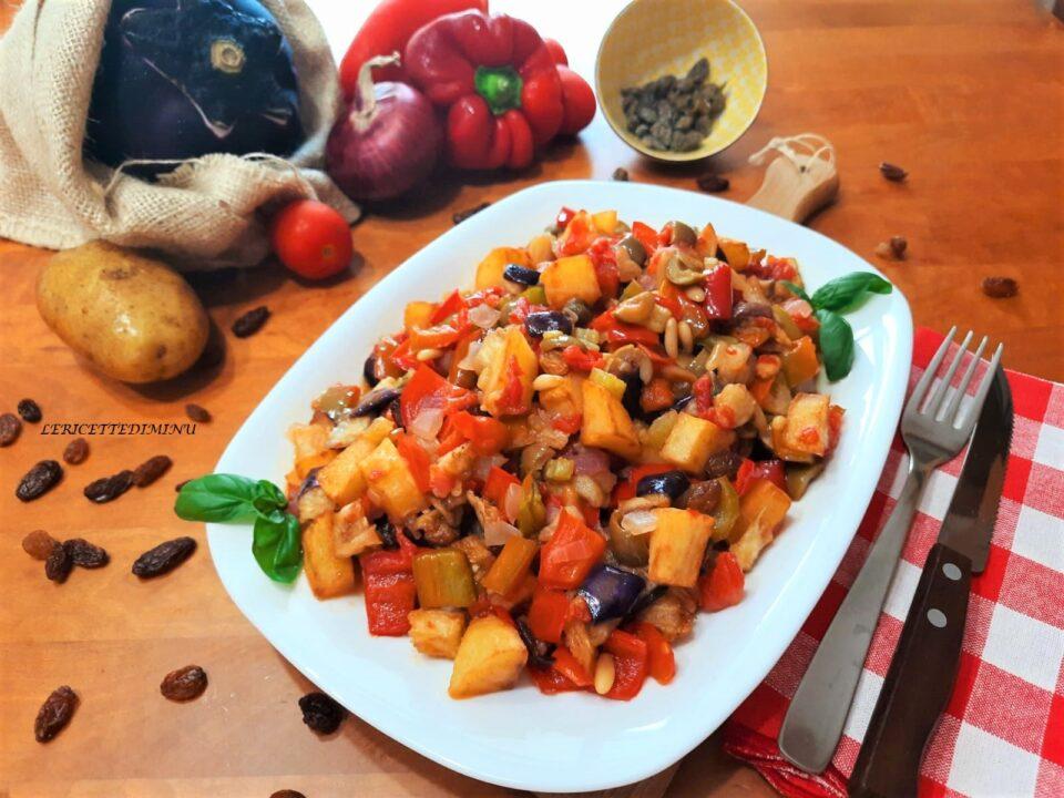 Caponata siciliana con patate
