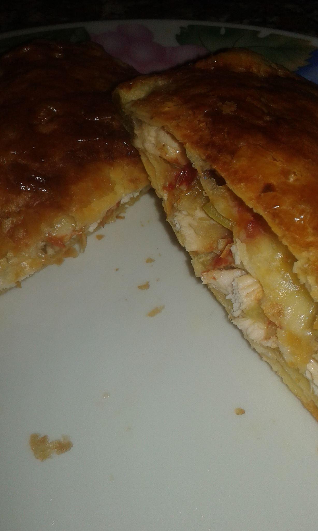 Pizzette di pasta sfoglia con zucchine e petto di pollo