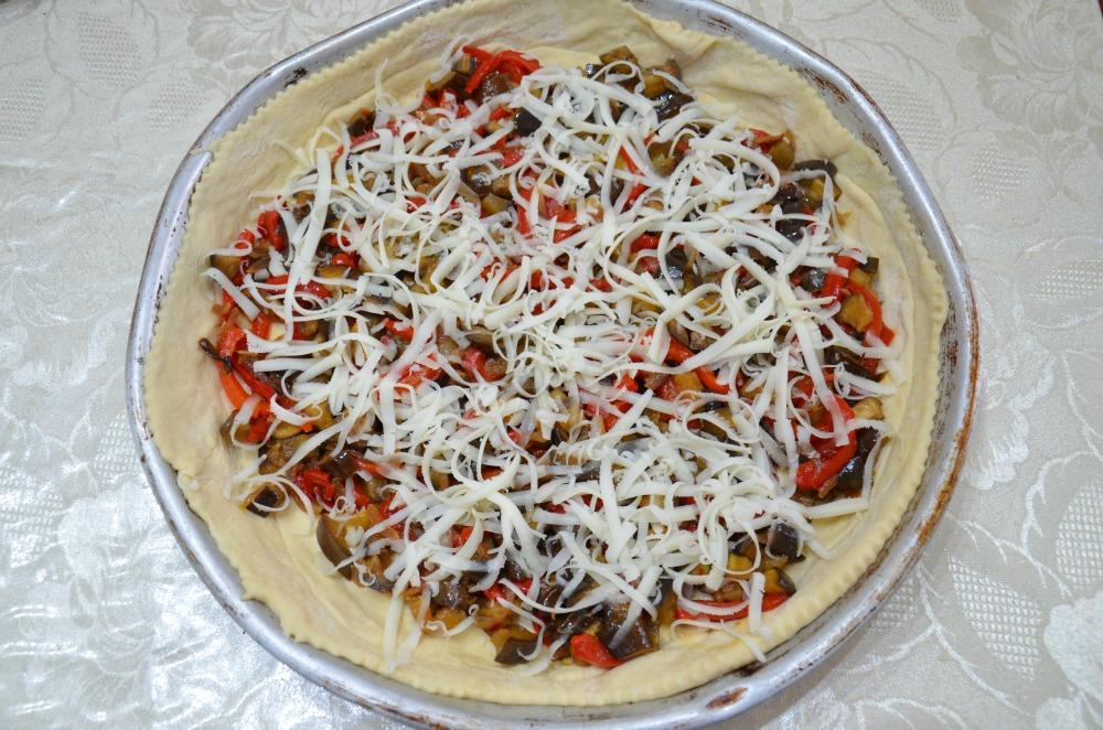Crostata Salata di Peperoni e Melanzane