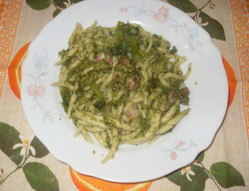 Trofie con Broccoletti e Pancetta
