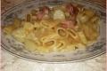 Mezze Maniche con Patate, Pancetta e Provola