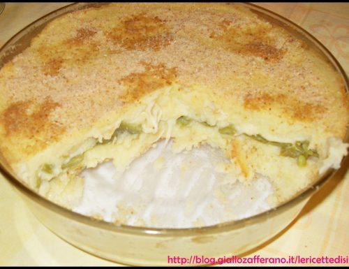 Tortino di Patate ripieno di Taccole e Mozzarella