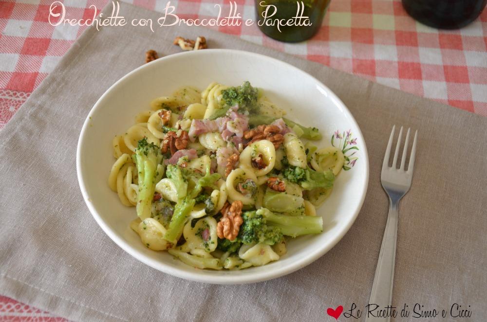 Orecchiette con Broccoletti e Pancetta
