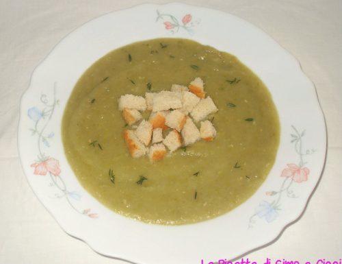 Zuppa di Porri, Patate e Piselli