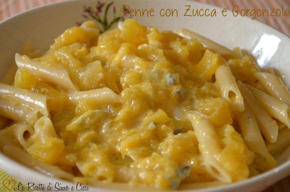 Penne con Zucca e Gorgonzola