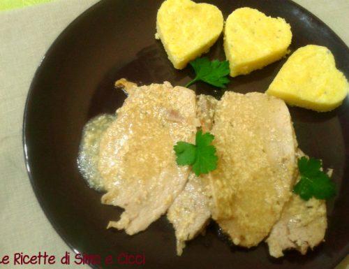 Arrosto di Maiale al Latte con Cuori di Polenta al Gorgonzola