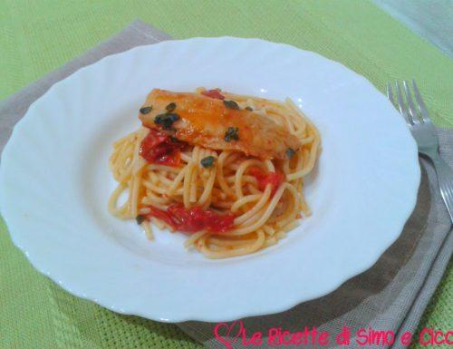 Spaghetti con Nasello e Pomodorini