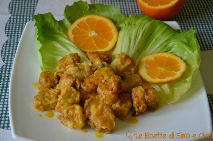 Bocconcini di Pesce Spada all'Arancia e Curry