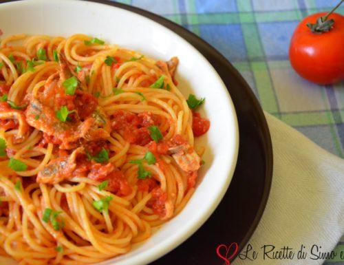 Spaghetti con Sugo di Alici Fresche